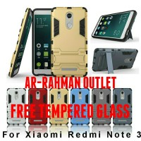 Jual Armor rugged Case With Stand xiaomi redmi note 3 FREE TEMPERED GLASS Murah