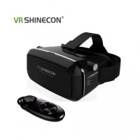 VR SHINECON Virtual Reality Headset 3D Glasses  -  BLACK