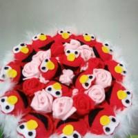 Jual buket boneka bunga valentine wisuda elmo large Murah
