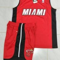 Setelan Jersey Baju Basket Anak / kids NBA impor - MIAMI