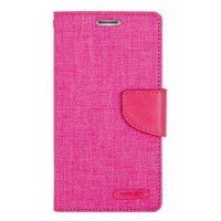 Mercury Canvas Diary Case Samsung Galaxy Ace 4 G313H Flip Cover - Pink