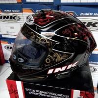 harga Helm INK CL-Max Full Fullface Black Red Gold CLMax Hitam Motif Tokopedia.com