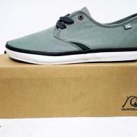 Sepatu pria Casual QuickSilver ShoreBreak Men Soft Grey Black original