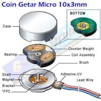 Coin Getar Micro 10x3mm Getar HP Headset Toys Alarm Jam Phone Vibrasi