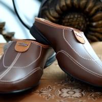 Sandal sendal sepatu pria slop flip flop karet kulit sintetis casual