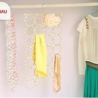 Gantungan Baju Jilbab Syal Scarf Hanger 28 Gantungan Organizer Jilbab