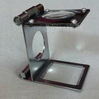 Jual Stainless steel loupe/microscope mini scale 15x 20mm Murah