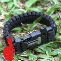 harga Paracord Survival Bracelet with Magnesium Flint Fire Starter Pemantik Tokopedia.com