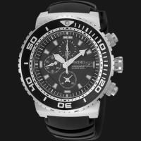 Seiko Chronograph SNDA13P2 Divers 200M Black Rubber Strap