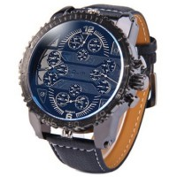 Jam Tangan Oulm Mechanical Analog Quartz Men Leather BandFashion Watch