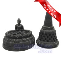Miniatur Stupa Candi Borobudur - Patung Pahat Batu