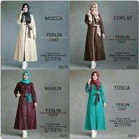Ferlin Coat / Dress Hijab Wanita Lengan Panjang OSOY