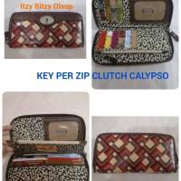Fossil Key Per Zip Clutch Retro