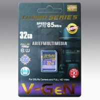 Memori V-gen Turbo Series 32gb Class 10, Speed 85mb / S