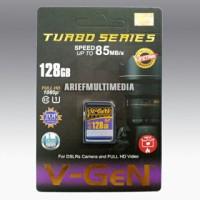 Memori V-gen Turbo Series Sd 128 Gb Class 10, Speed 85mb / S