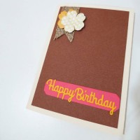 Kartu ucapan simple hbd and flower 1