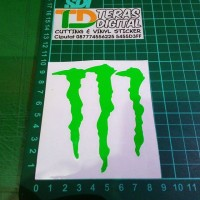 Cutting Sticker logo M Monster 9x10cm