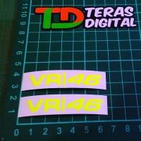 Cutting Sticker Visor Helm VR46 kecil