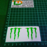 Cutting Sticker logo M Monster