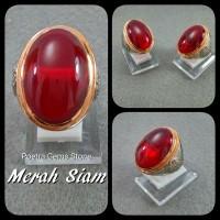 harga Batu Cincin Merah Siam Big Size Tokopedia.com