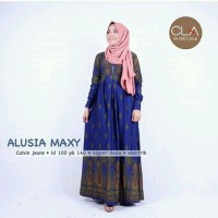 Gamis Muslim Calvin Jeans / Supplier Dress Busui Murah