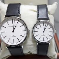 Jam Tangan Alexandre Christie AC 8456 Silver White Couple