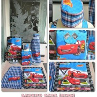 Sarung Instant Anak Karakter Cars Biru Size M 5-6th Realpic