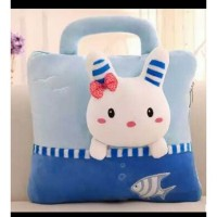 New Arrival Balmut bunny blue soft uk selimut 120x200cm