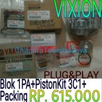 harga BLOK SEHER PISTON KIT PACKING YAMAHA VIXION ORISINIL ASLI RING 3C1 Tokopedia.com