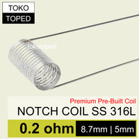 Notch Coil Stainless Steel 0.2 ohm | ss wire 316L wismec theorem