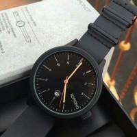 harga komono tali kulit hitam black tanggal aktif jam tangan wanita pria Tokopedia.com