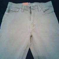 Celana Jeans Pria Levi's 505 Regular (28-32) Warna Cream