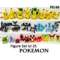 Pajangan Figure Set Pokemon Isi 25 Fg150 Super