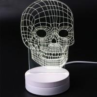 harga Lampu 3D LED Transparan Design Tengkorak / Lampu Meja Tokopedia.com
