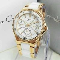 Jual Jam Tangan Alexandre Christie Wanita AC 2294 Rose Gold White Original Murah