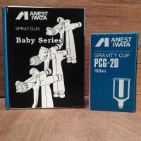 ORIGINAL Spray Gun Anest Iwata LPH80-082G + 150ML Gravity Cup PCG-2D-1