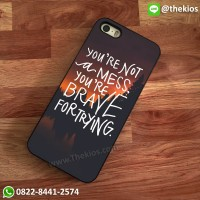 Brave for trying iPhone 5 5s SE 6 Plus 4s case Samsung HTC Sony cases