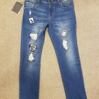 Celana Panjang Jeans Tempelan Uk 28 .29.30