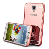 Case for Samsung Galaxy S4 with Bumper Backcase Mirror Slide