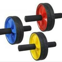 Fitness Double Wheel Roller Abdominal Exercise AB / Alat olahraga gym