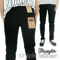 Celana Jeans WRANGLER Skinny Full Black