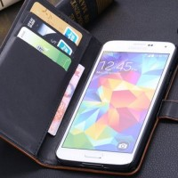 Samsung Galaxy S5 Wallet Leather Flip Cover Casing Case Dompet Kulit