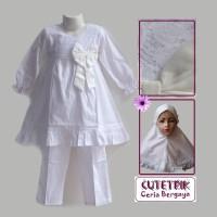 Baju Muslim Anak Setelan Manasik Cutetrik Ukuran 3-7 tahun