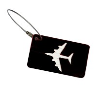 Name Tag ID Tas Koper Aircraft Plane Shape Aluminum Metal Travel