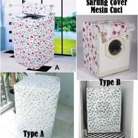 Sarung Cover Mesin Cuci Buka Atas Type A Laundry Motif Bunga Pernik