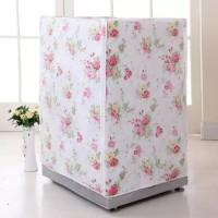 Sarung Cover Mesin Cuci Buka Depan Type B Laundry Motif Bunga Flower