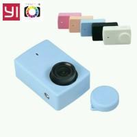 Silicon Case Wite Lens Cap Rubber Xiaomi Yi 4K Versi 2