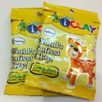 Airdry Clay i-clay for toys, Amos iclay 15 gram, Yellow Slime