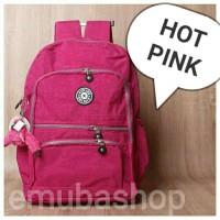 Tas Laptop | Tas Wanita | Backpack | Ransel Punggung Kipling Hotpink