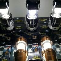 lampu emergency Solar lentera tarik + senter + powerbank